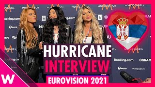 "Hurricane ""Loco Loco"" (Serbia) Interview @ Eurovision 2021 second rehearsal"