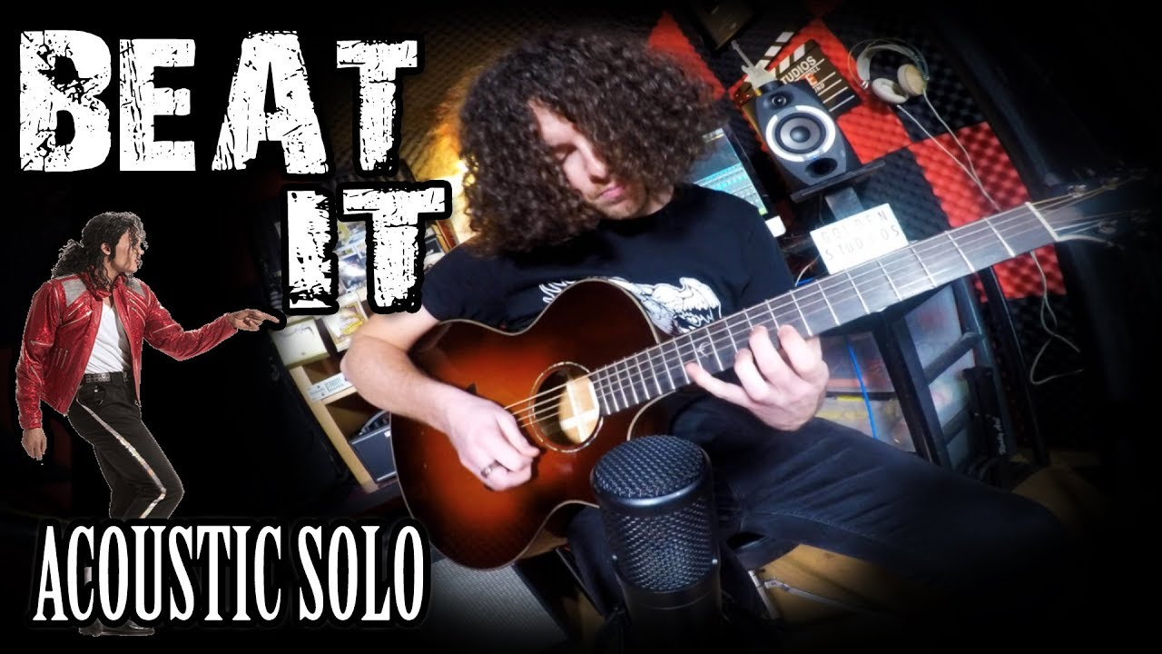 beat it solo by michael jackson acoustic guitar cover youtube. Black Bedroom Furniture Sets. Home Design Ideas