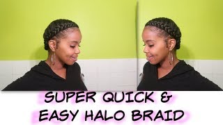 HALO BRAID TUTORIAL | EASY PROTECTIVE STYLE