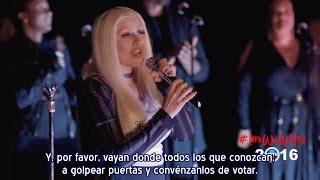 Christina Aguilera - Fighter & mensaje Evento #ImWithHer Hillary Clinton (Subtítulos español)