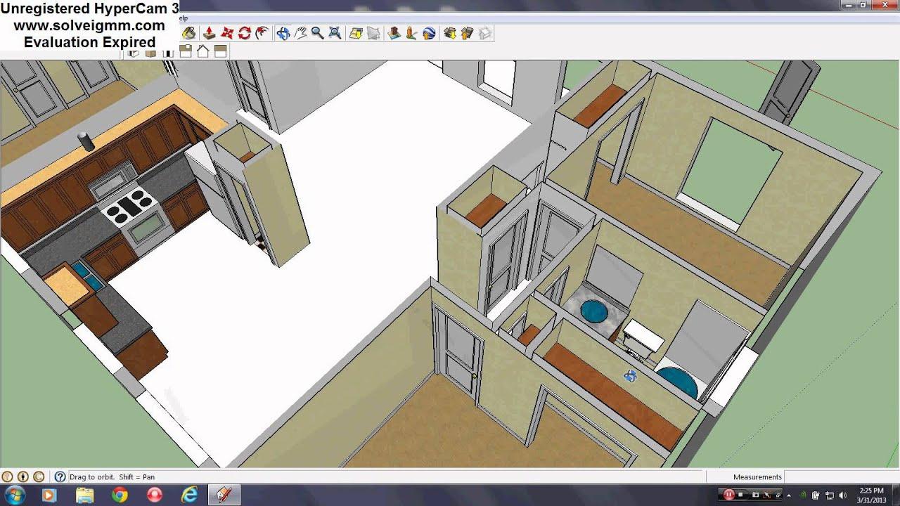 Sketchup House Tutorial PT. 9 (Interior Doors) - YouTube