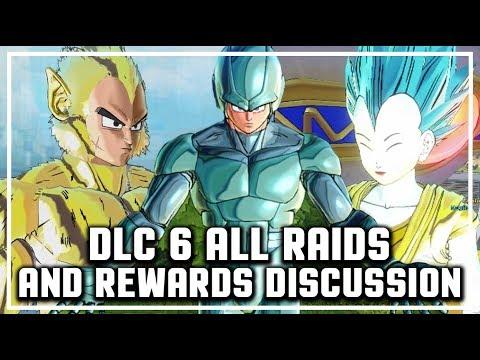 DLC Pack 6 ALL RAIDS AND REWARDS IDEA I Dragon Ball Xenoverse 2 DLC 6 ALL RAID REWARDS