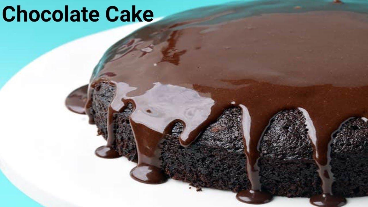 Eggless Chocolate Cake Recipe Without Oven | चॉकलेट केक ...