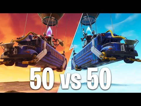 50 vs 50 GAME MODE in FORTNITE BATTLE ROYALE!!