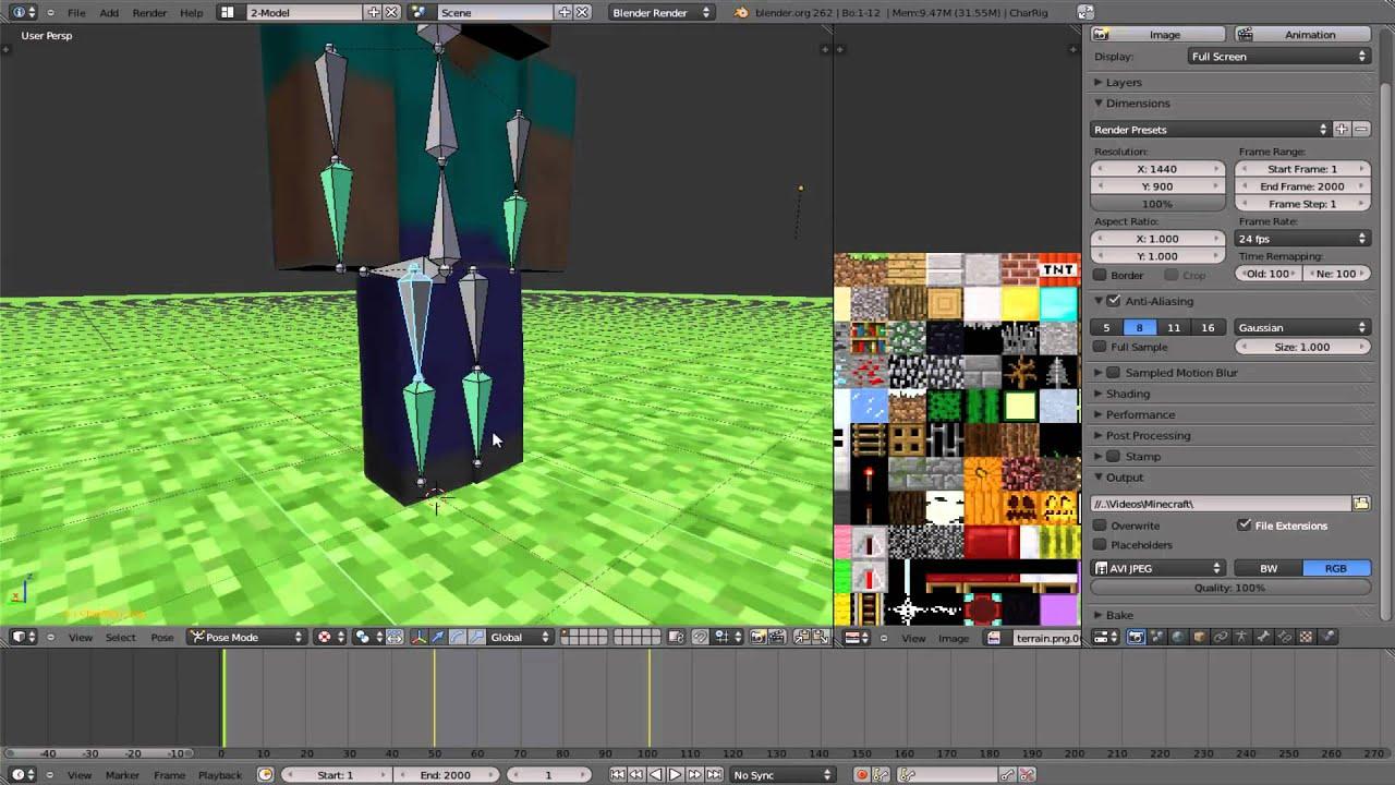 Minecraft animation wallpaper in blender erstellen animation und abspeichern von bildern - Wallpaper erstellen ...