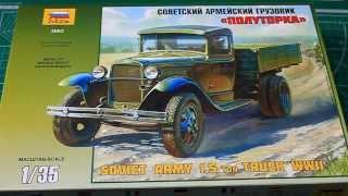 Обзор сборной модели ГАЗ АА - Полуторка