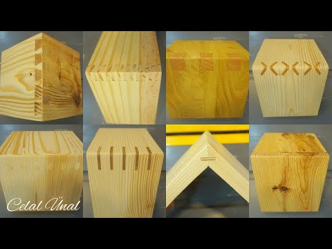 Simple wood corner joints / Woodworking joints - Celal Ünal