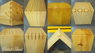 Simple wood corner joints / Woodworking joints