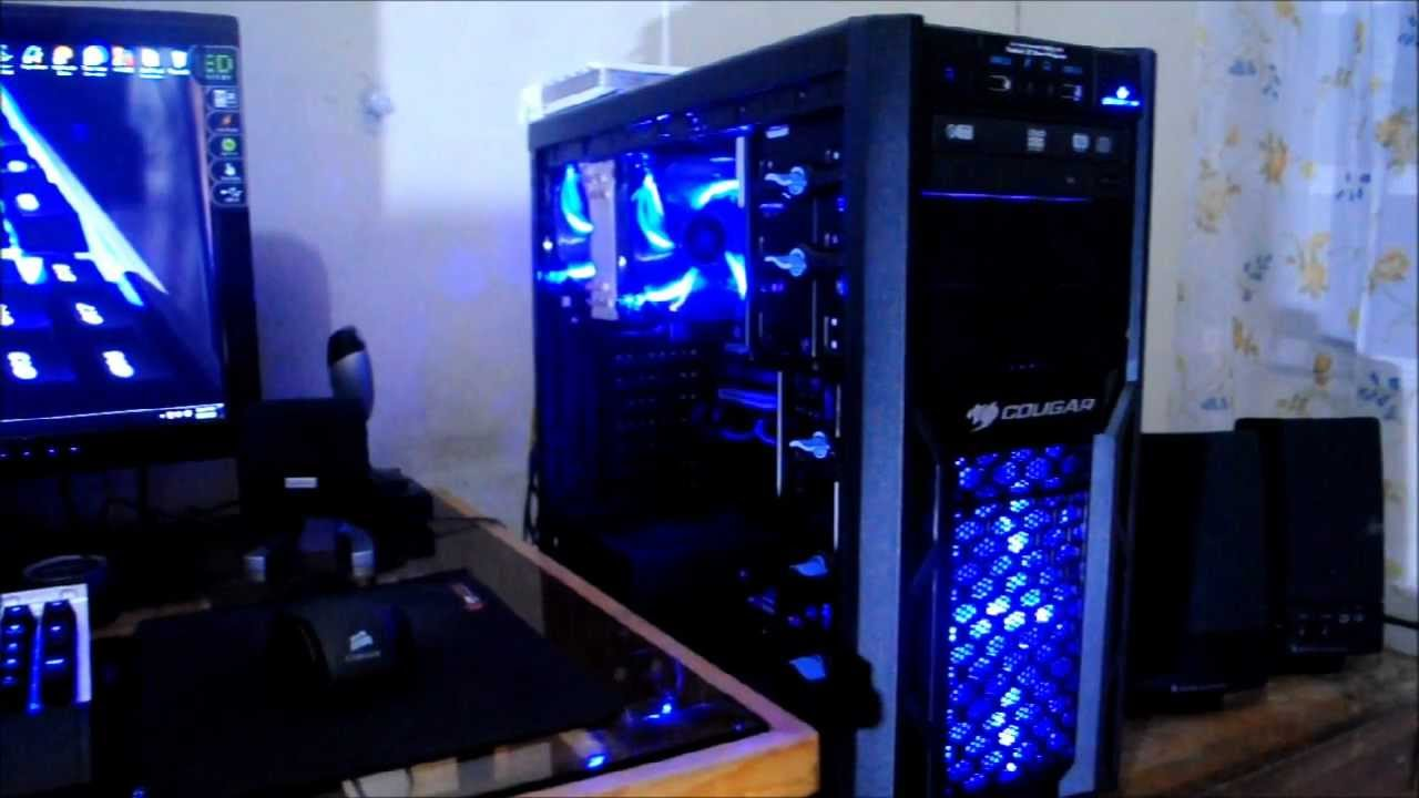 My Blue Theme PC Gaming Setup 2013 - YouTube