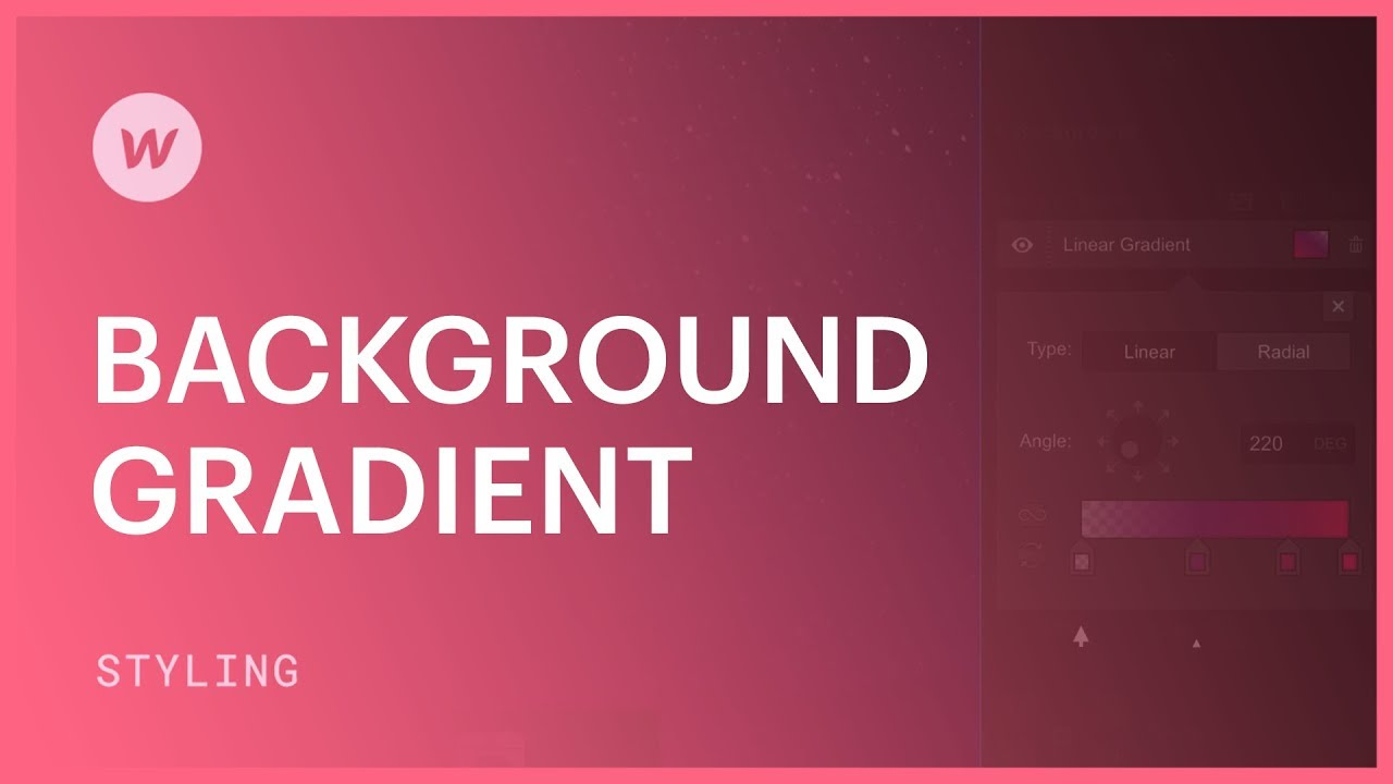 Background gradients - Webflow CSS tutorial - YouTube