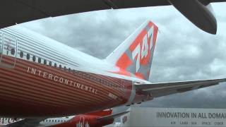 747-8 Intercontinental Arrives at Paris Air Show