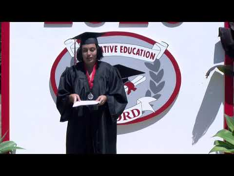Inspirational Word from Members of Alvord Continuation High School Graduation Class of 2020