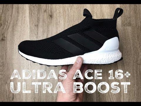 60ad070fd45d2 Adidas Ace 16 Ultra Boost Black