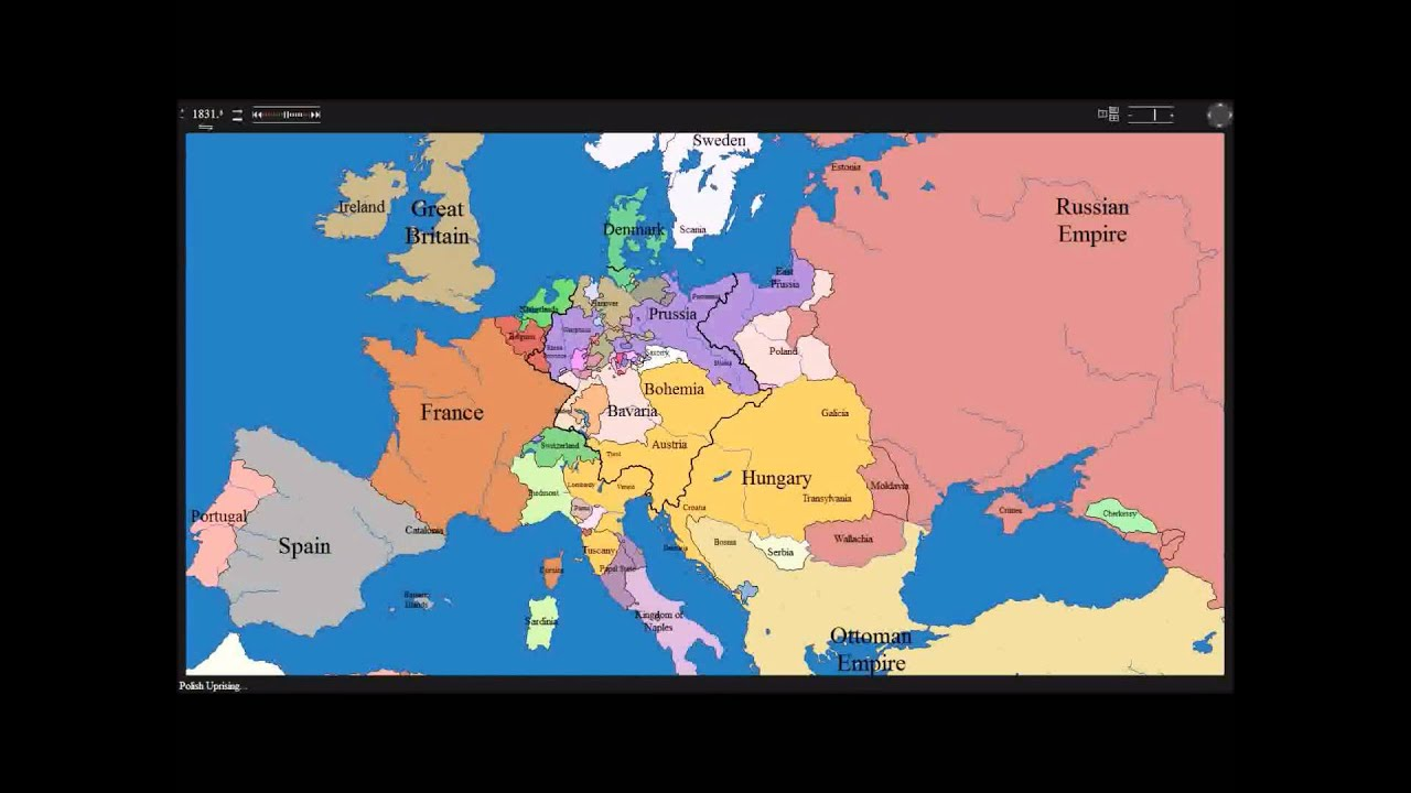 European time lapse map w years  events  YouTube