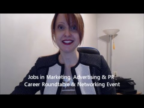 Marketing Advertising PR Career Event NYC March 28 2018