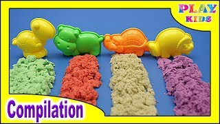 DIY Kinetic Sand counting numbers 0 to 10 | How to make Kinetic Sand Cake | Colors kinetic sand Cake