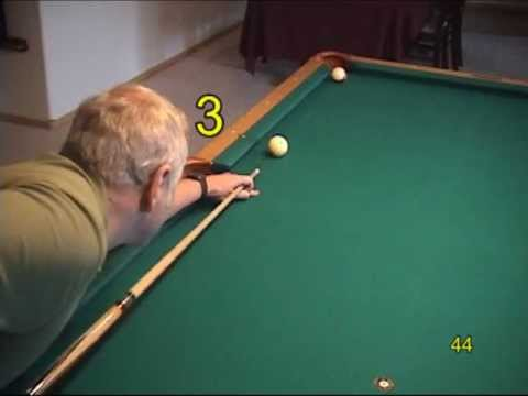Pool and billiards progressive practice draw shot (backspin) drills, from  VEPP I (NV C 3)