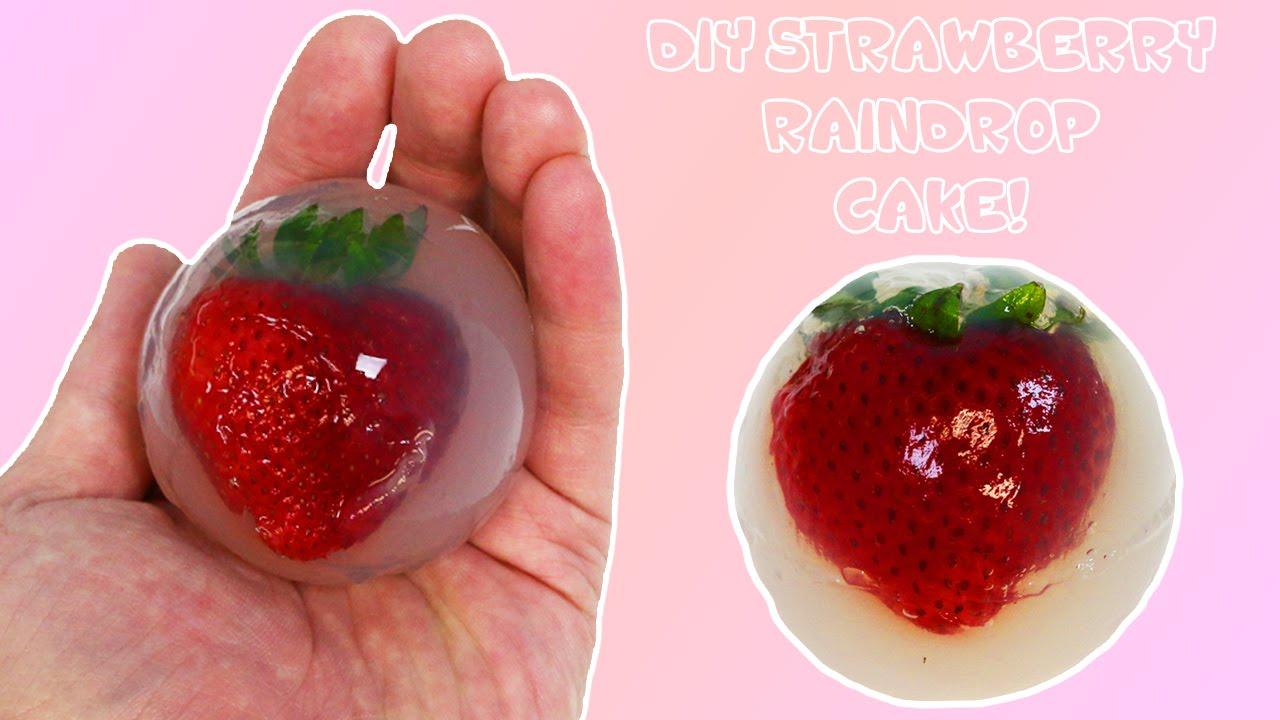 Raindrop Cake With Strawberry