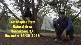 Backpacking in Lost Maples State Natural Area, TX - Part 1