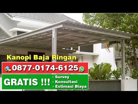 Contoh Model Kanopi Baja Ringan - YouTube