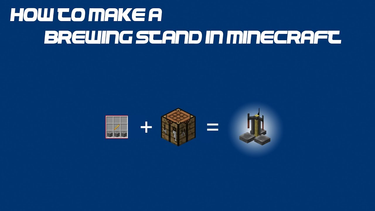 How To Make A Brewing Stand In Minecraft Youtube