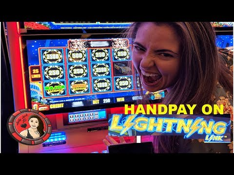 HANDPAY JACKPOT on Lightning Link Slot Machine at Casino in Las Vegas - 동영상