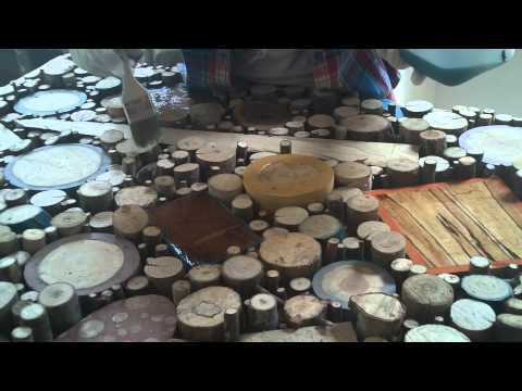 Barre Pinske Twig and Resin Countertop Process Video