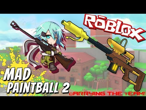 I AM THE BEST! CARRYING THE TEAM! | Roblox: Mad Paintball 2