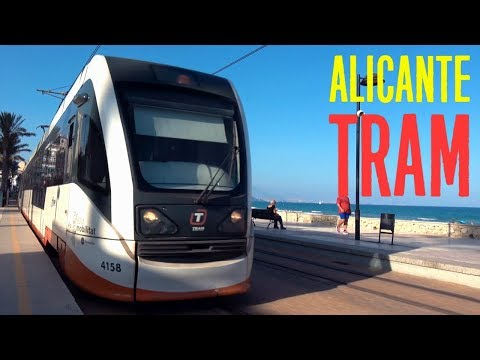 Tram Alicante Metro, Costa Blanca Train 4K
