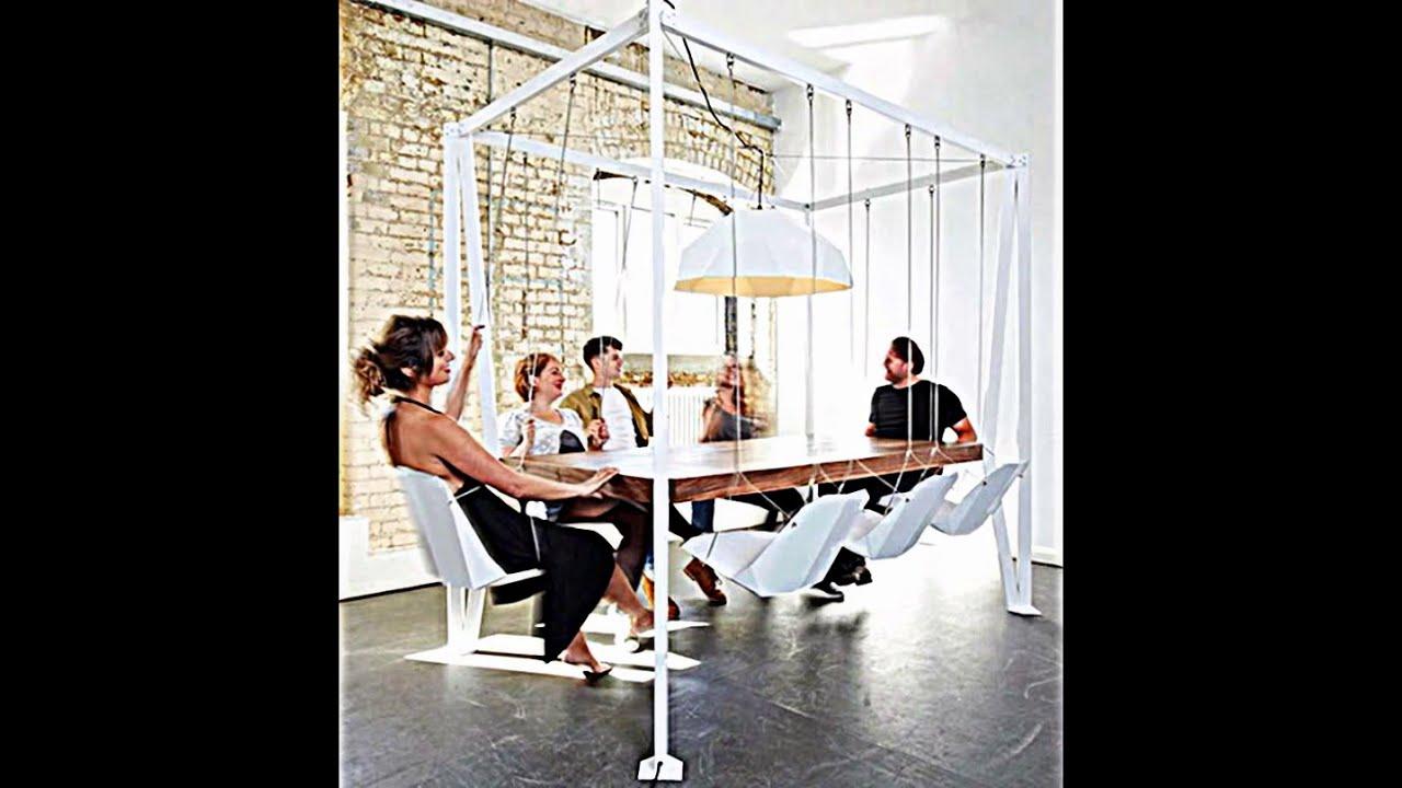 innovativer schaukel esstisch spas | möbelideen, Esszimmer dekoo