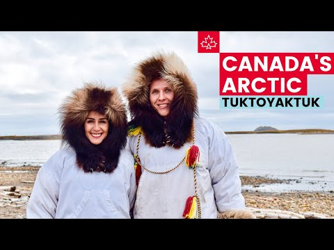 Driving to CANADA'S ARCTIC! Exploring Tuktoyaktuk, Northwest Territories