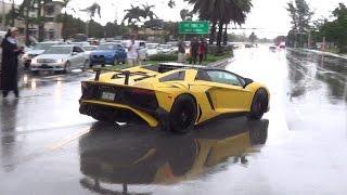 Massive Supercar Takeoffs From Lamborghini Miami to Homestead Speed...