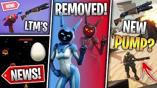 New Pump, Gemini Deleted, Easter Egg Game, 3 Wraps, Lighting Fix & 2 Leaked LTM's! (Fortnite News)