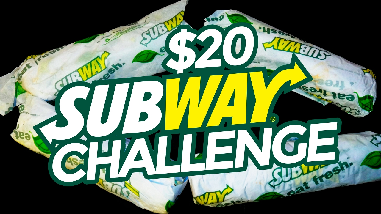 $20 @SUBWAY CHALLENGE (4 FOOTLONG SANDWICHES)