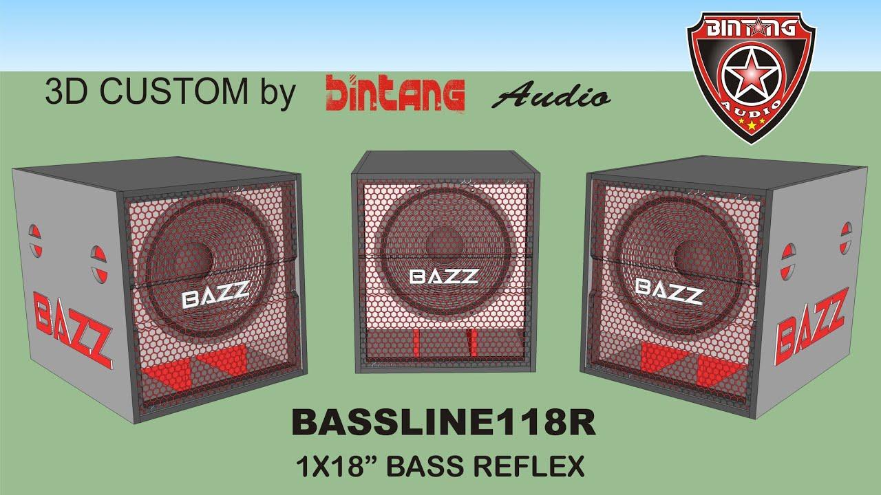 BOX SPEAKER BASS REFLEX 1 X 18