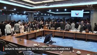 Senate hearing on the GCTA law and Antonio Sanchez