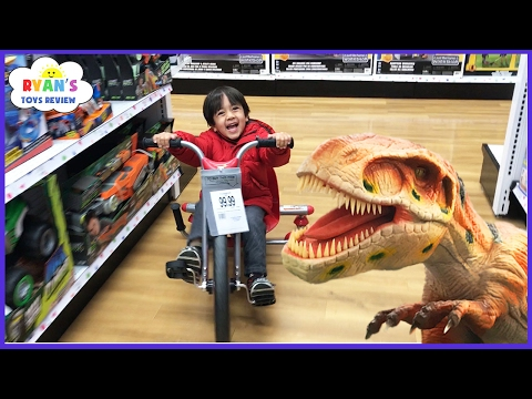 Thumbnail: TOYS HUNT at Toys R Us Ryan ToysReview! Giant Life Size Dinosaur kids toy store! Family Fun Trip