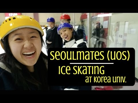 Seoulmates(UOS)- Ice skating at Korea University || Korea Study Abroad VLOG