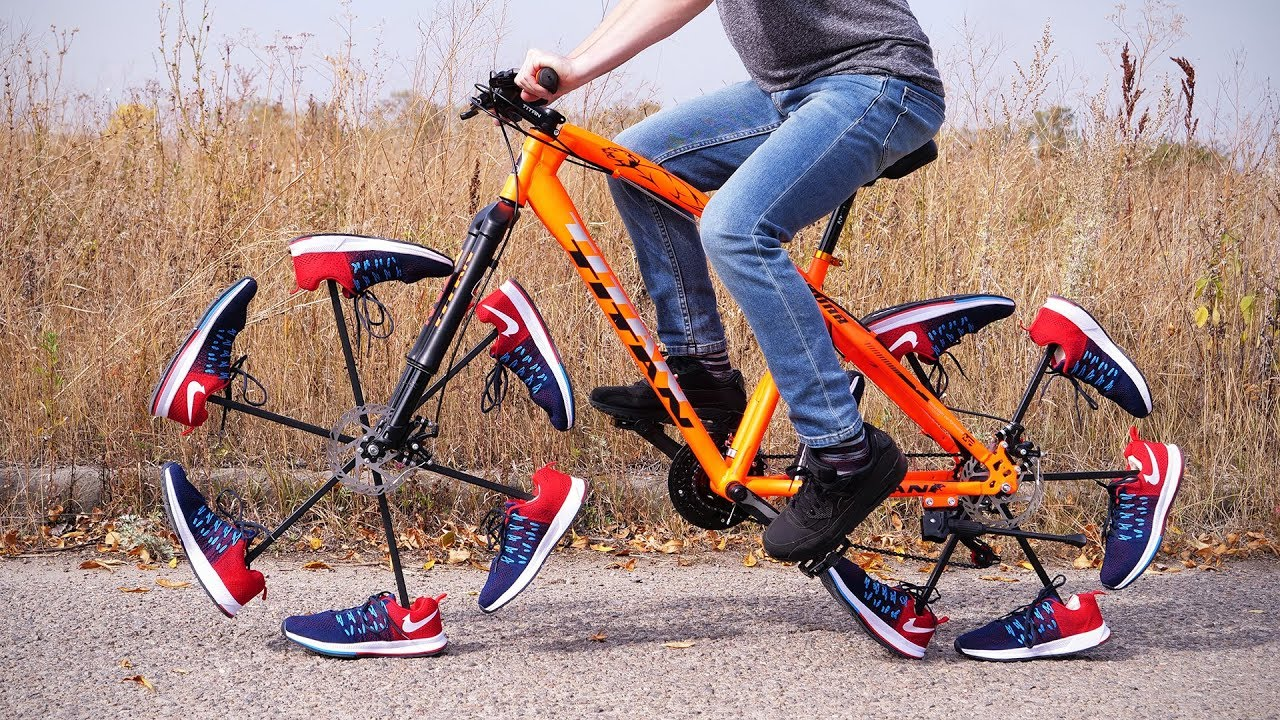 Epic Cycling | Truly Unique Shoe Bicycle - YouTube