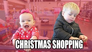Christmas Shopping with 4 kids