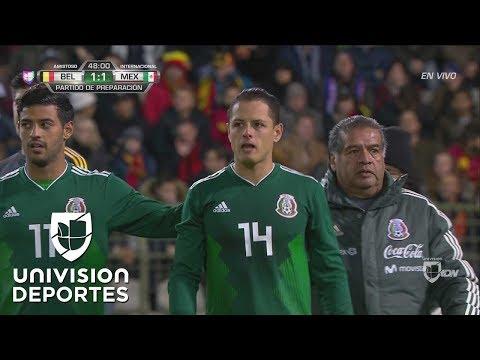 'Chicharito' salió lesionado en el Bélgica vs México