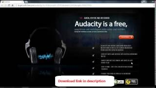 Video Editing Software - Full Version -  Audacity