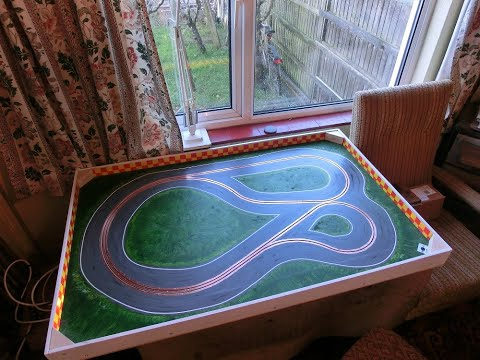 30×48 Inch Slot Car (Scalextric) Track Build