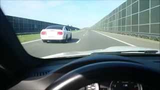 BMW M3 E92 vs. Ford Mustang Shelby GT500 top speed(Sprawdziliśmy, który z samochodów będzie szybsze. BMW M3 E92 czy Ford Mustang Shelby GT500. Jednak różnica 100 KM oraz momentu dała się we znaki :), 2015-03-31T00:45:43.000Z)
