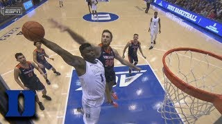 Duke's Zion Williamson Rocks The Rim With Thunderous Dunk