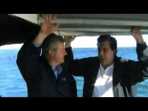 Minister Tony Burke with Andrew Ferguson, Australian Bight Abalone, South Australia, 4 July 2008.