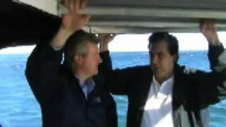 Minister Tony Burke with Andrew Ferguson, Australian Bight Abalone, South Australia, 4 July 2008.