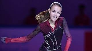 Анна Щербакова впервые приняла участие в зарубежном ледовом шоу