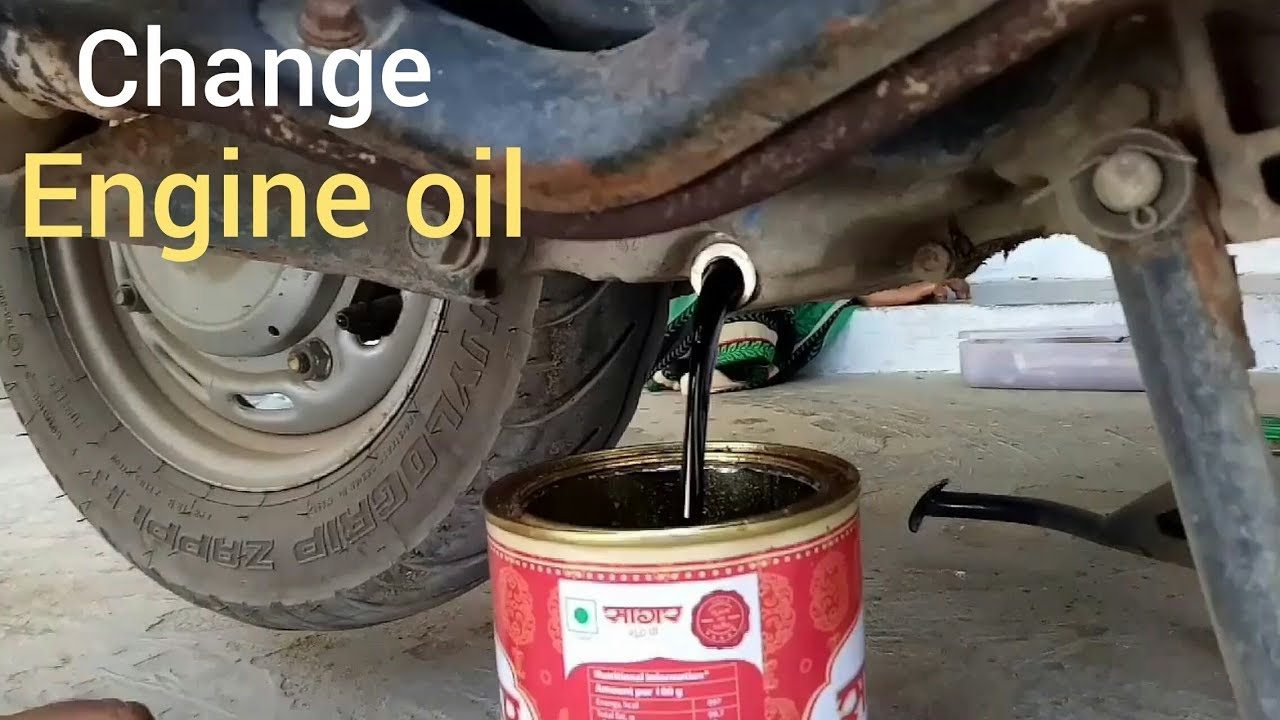 how to change engine oil in activa
