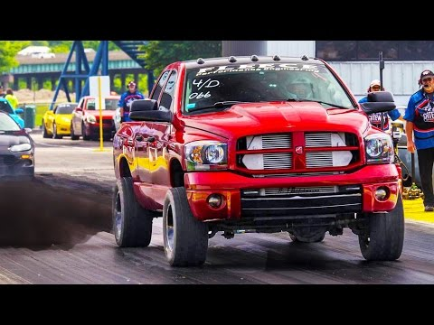 Diesel EXPLODES on Drag Strip!!